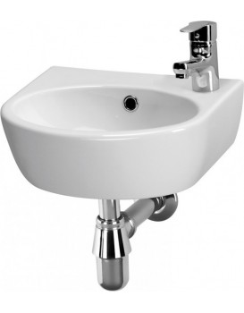 Keramické umyvadlo Cersanit PARVA pravostranné 40x32 cm bílé