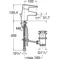 Bidetová batéria ROCA ESAMI -  A5A6031C00