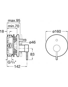 Vanová baterie ROCA LANTA - A5A0B11C00