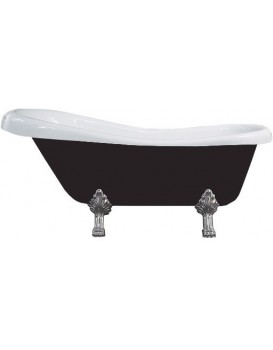 Vaňa MEXEN RETRO CHROM 170 × 75 čierno-biela