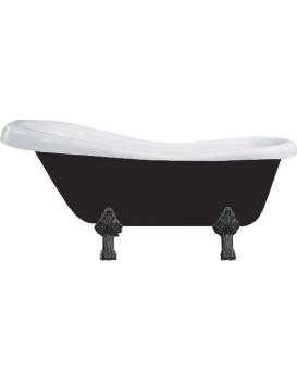 Vaňa MEXEN RETRO BLACK 170 × 75 čierno-biela
