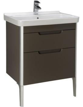 Umyvadlová skříňka s umyvadlem ROCA DAMA-N 65 cm - šedý antracit