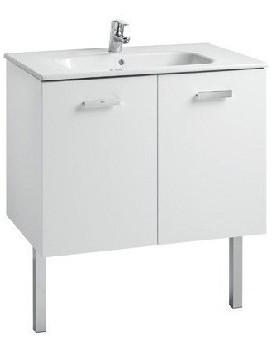 Umyvadlová skříňka s umyvadlem ROCA VICTORIA BASIC UNIK 80 cm bílá
