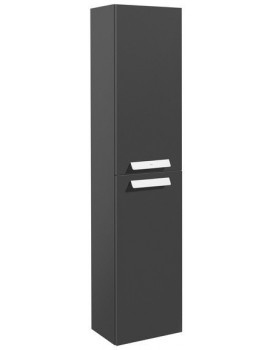 Tenká koupelnová skříňka ROCA DEBBA  - antracit
