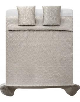 Prikrývka na posteľ Verona + 2 obliečky na vankúš strieborná