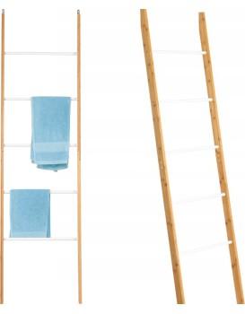 Bambusový rebrík - biely