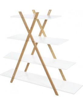 Polička Bamboo - bílá