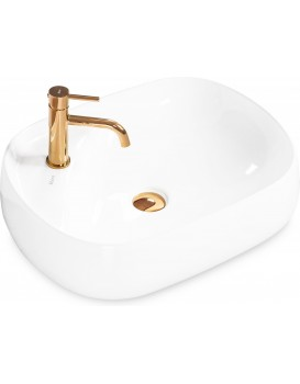 Keramické umývadlo na dosku Rea Lea 59 × 47 cm biele