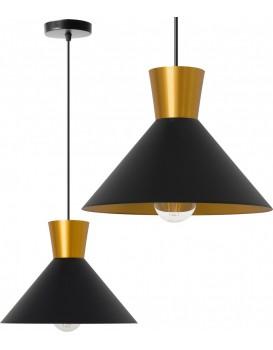 Stropné svietidlo Arcot B čierne / zlaté
