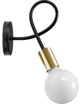 Nástěnná lampa Paradise černá/zlatá