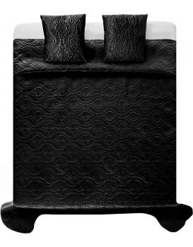 Prikrývka na posteľ Verona + 2 obliečky na vankúš čierna
