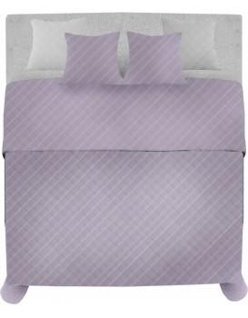 Prikrývka na posteľ Palermo + 2 obliečky na vankúš fialová
