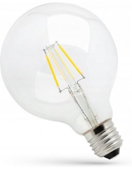 LED žárovka teplá  E-27 230V 4W kulatá