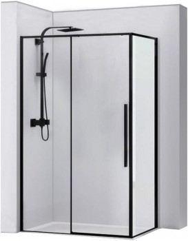 Sprchovací kút Solar Black Mat 80 × 100