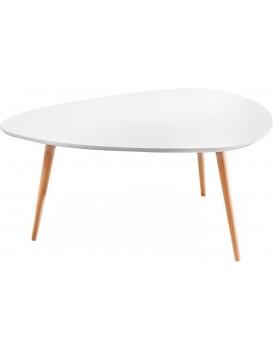 Konferenční stolek ve Skandinávském stylu 100x60 cm - bílý