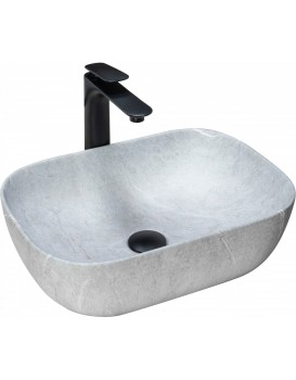 Umyvadlo na desku REA LIVIA šedé
