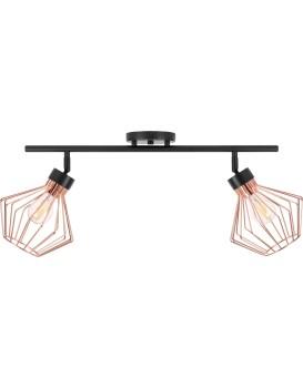 Stropní svítidlo Plafon Double černé