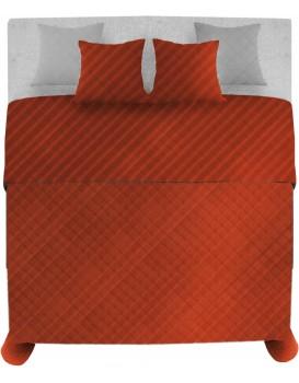Prikrývka na posteľ Palermo + 2 obliečky na vankúš červená