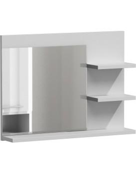 Koupelnová polička se zrcadlem LUMO L3 bílá mat