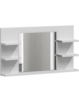 Kúpelňová polička so zrkadlom LUMO L5 biela mat