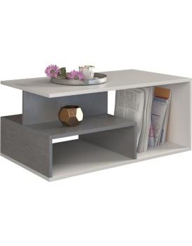 Konferenčný stôl Concerete sivo-biely