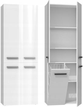 Koupelnová skříňka ARDIA lesklá bílá