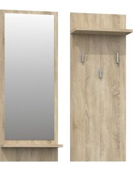 Věšáková stěna se zrcadlem- RIVA- DUB sonoma