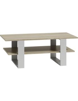 Konferenční stolek MARTYNA světlý dub, bílá