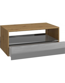 Konferenční stolek REBEL - dub/šedá lesklá