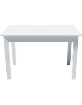 Rozkládací stůl Kevin 120-160cm bílý