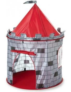 Dětský stan rytířský hrad šedý