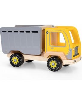 Dřevěné nákladní auto EcoToys hnědo-žlutý
