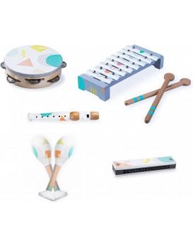 Sada 5 hudebních nástrojů pro děti EcoToys