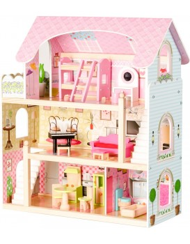 Drevený domček pre bábiky Rozprávková rezidencia Eco Toys