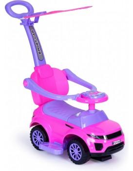 Jezdítko auto 3v1 Super Car růžové