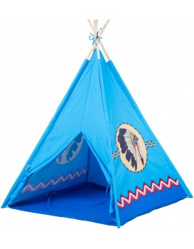 Detský stan Indiánsky vigvam EcoToys modrý