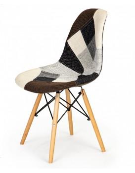 Sada 2 jídelních židlí Patchwork ModernHome šedá