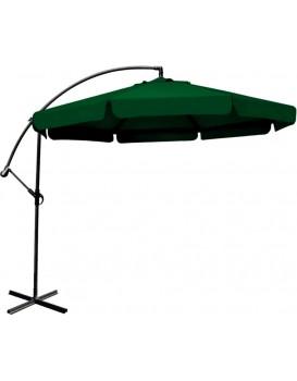 Zahradní slunečník s boční nohou Rouhome - 3m zelený