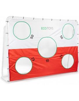Fotbalová branka + plachta EcoToys bílá/oranžová