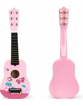 Kytara pro děti ECOTOYS růžová