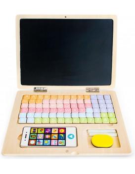 Drevený laptop s magnetickou doskou Eco Toys