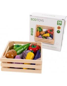 Dřevěná zelenina s magnety