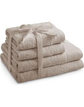 Sada bavlněných ručníků AmeliaHome AMARI béžová