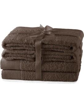 Súprava uterákov AmeliaHome Amary hnedá