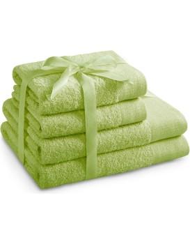 Sada bavlněných ručníků AmeliaHome AMARI světle zelená