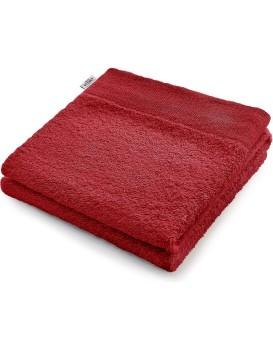 Bavlněný ručník AmeliaHome AMARI tmavě červený