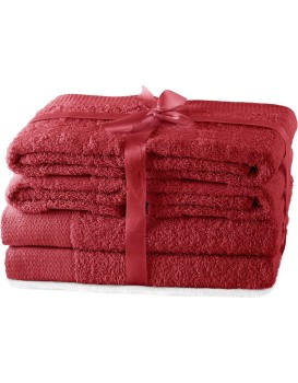 Set ručníků AmeliaHome Amary červené