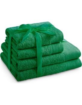 Súprava bavlnených uterákov AmeliaHome AMARI zelená