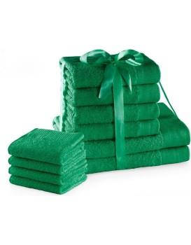 Sada bavlněných ručníků AmeliaHome AMARI 2+4+4 ks zelená