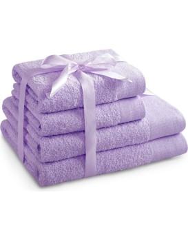 Sada bavlněných ručníků AmeliaHome AMARI šeříková